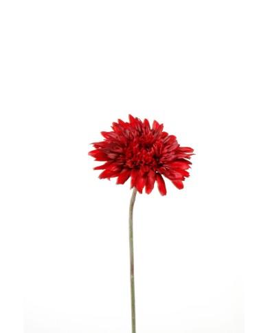 Künstliche Gerbera rot, ca. 62cm