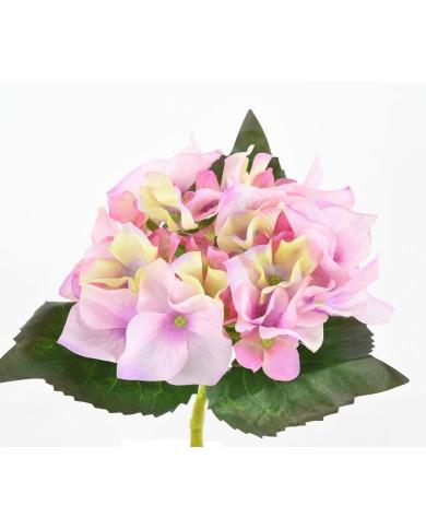 Künstliche Hortensie lila-creme, ca. 35cm