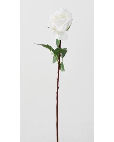 Künstliche Rose Olive weiss, ca. 70cm