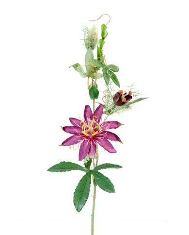 Künstliche Passionsblume violett, ca. 45cm