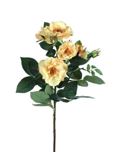 Künstliche Rose Mandy gelb, ca. 45cm