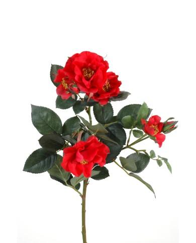 Künstliche Rose Mandy rot, ca. 45cm
