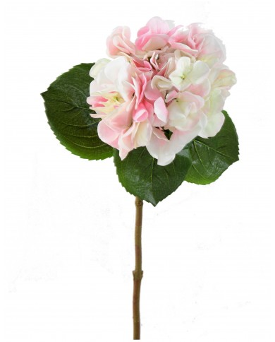 Künstliche Hortensie pink-grün, ca. 60cm
