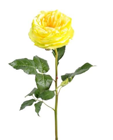 Künstliche Rose gelb, ca. 85cm