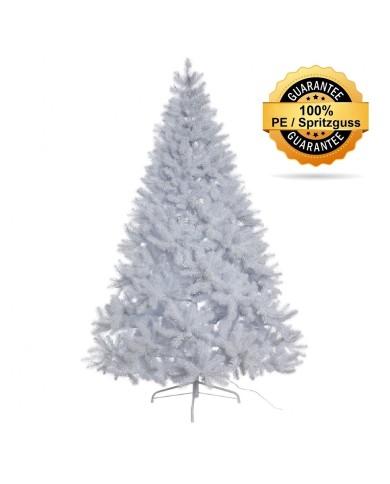 Künstlicher Tannenbaum, weiss, beschneit, Spritzguss, ca. 210cm